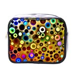 Colourful Circles Pattern Mini Toiletries Bags Front
