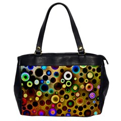 Colourful Circles Pattern Office Handbags by Costasonlineshop