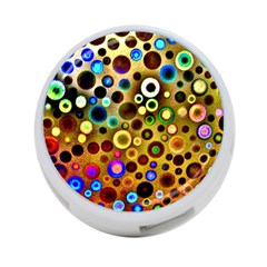 Colourful Circles Pattern 4 Port Usb Hub (one Side) by Costasonlineshop
