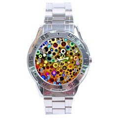 Colourful Circles Pattern Stainless Steel Men s Watch by Costasonlineshop