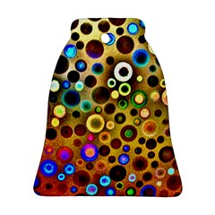 Colourful Circles Pattern Bell Ornament (2 Sides) by Costasonlineshop