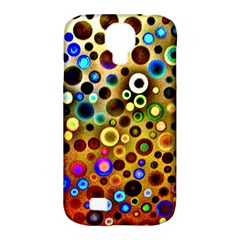 Colourful Circles Pattern Samsung Galaxy S4 Classic Hardshell Case (pc+silicone) by Costasonlineshop