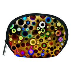 Colourful Circles Pattern Accessory Pouches (medium)  by Costasonlineshop