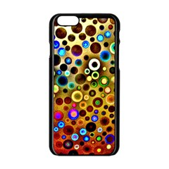 Colourful Circles Pattern Apple Iphone 6/6s Black Enamel Case