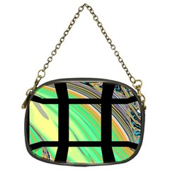 Black Window With Colorful Tiles Chain Purses (one Side)  by digitaldivadesigns