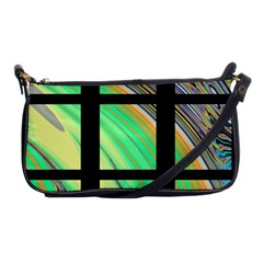 Black Window With Colorful Tiles Shoulder Clutch Bags by digitaldivadesigns