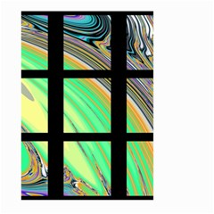 Black Window With Colorful Tiles Large Garden Flag (two Sides) by digitaldivadesigns