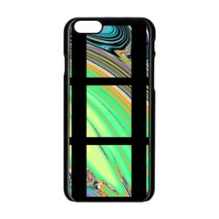 Black Window With Colorful Tiles Apple Iphone 6/6s Black Enamel Case