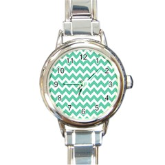 Chevron Pattern Gifts Round Italian Charm Watches