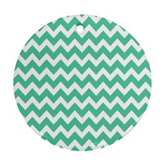 Chevron Pattern Gifts Ornament (round)