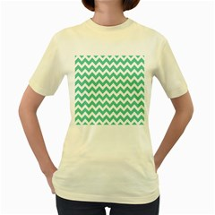 Chevron Pattern Gifts Women s Yellow T Shirt
