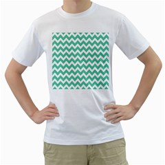 Chevron Pattern Gifts Men s T Shirt (white) (two Sided)