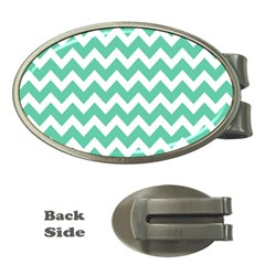 Chevron Pattern Gifts Money Clips (oval)