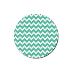 Chevron Pattern Gifts Rubber Round Coaster (4 Pack)