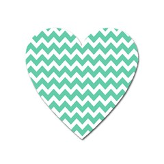 Chevron Pattern Gifts Heart Magnet