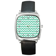 Chevron Pattern Gifts Square Metal Watches