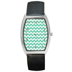 Chevron Pattern Gifts Barrel Metal Watches