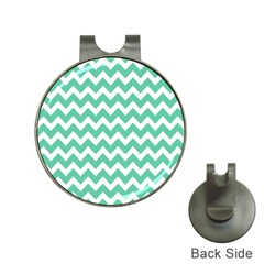 Chevron Pattern Gifts Hat Clips With Golf Markers