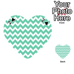 Chevron Pattern Gifts Playing Cards 54 (heart)