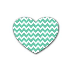Chevron Pattern Gifts Heart Coaster (4 Pack)