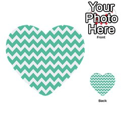 Chevron Pattern Gifts Multi Purpose Cards (heart)