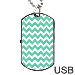 Chevron Pattern Gifts Dog Tag Usb Flash (two Sides)