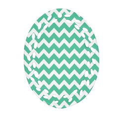 Chevron Pattern Gifts Ornament (oval Filigree)