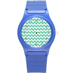 Chevron Pattern Gifts Round Plastic Sport Watch (s)