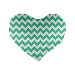 Chevron Pattern Gifts Standard 16  Premium Heart Shape Cushions