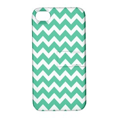 Chevron Pattern Gifts Apple Iphone 4/4s Hardshell Case With Stand