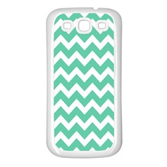 Chevron Pattern Gifts Samsung Galaxy S3 Back Case (white)