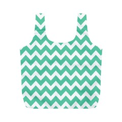 Chevron Pattern Gifts Full Print Recycle Bags (m)