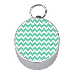 Chevron Pattern Gifts Mini Silver Compasses
