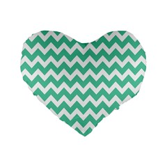 Chevron Pattern Gifts Standard 16  Premium Flano Heart Shape Cushions by creativemom