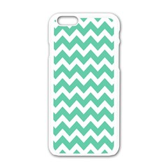 Chevron Pattern Gifts Apple Iphone 6/6s White Enamel Case