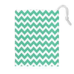 Chevron Pattern Gifts Drawstring Pouches (extra Large)