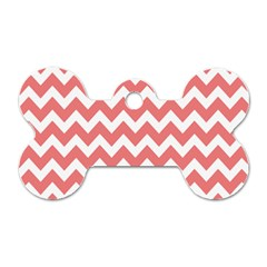Chevron Pattern Gifts Dog Tag Bone (one Side) by creativemom