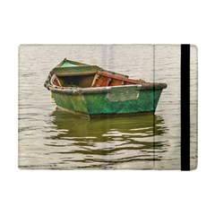 Old Fishing Boat At Santa Lucia River In Montevideo Ipad Mini 2 Flip Cases by dflcprints