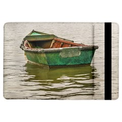 Old Fishing Boat At Santa Lucia River In Montevideo Ipad Air Flip by dflcprints
