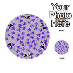 Purple Pattern Playing Cards 54 (round)  by JDDesigns