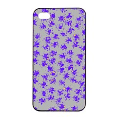 Purple Pattern Apple Iphone 4/4s Seamless Case (black)