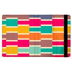 Connected Colorful Rectangles			apple Ipad 2 Flip Case by LalyLauraFLM