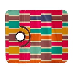 Connected Colorful Rectangles			samsung Galaxy S Iii Flip 360 Case by LalyLauraFLM