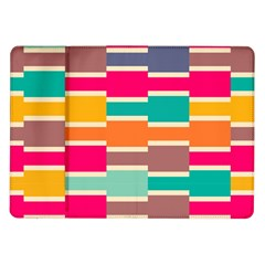 Connected Colorful Rectangles			samsung Galaxy Tab 10 1  P7500 Flip Case by LalyLauraFLM