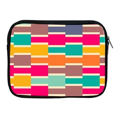 Connected Colorful Rectangles			apple Ipad 2/3/4 Zipper Case by LalyLauraFLM