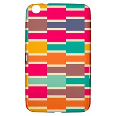 Connected Colorful Rectangles			samsung Galaxy Tab 3 (8 ) T3100 Hardshell Case by LalyLauraFLM