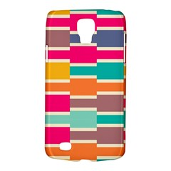 Connected Colorful Rectangles			samsung Galaxy S4 Active (i9295) Hardshell Case by LalyLauraFLM