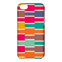 Connected Colorful Rectangles			apple Iphone 5c Hardshell Case by LalyLauraFLM