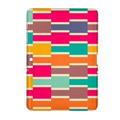Connected Colorful Rectangles			samsung Galaxy Tab 2 (10 1 ) P5100 Hardshell Case by LalyLauraFLM