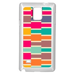 Connected Colorful Rectangles			samsung Galaxy Note 4 Case (white)
